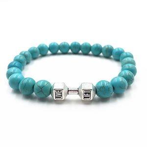 Jewelry - Ladies Yoga Turquoise Beads Bracelet