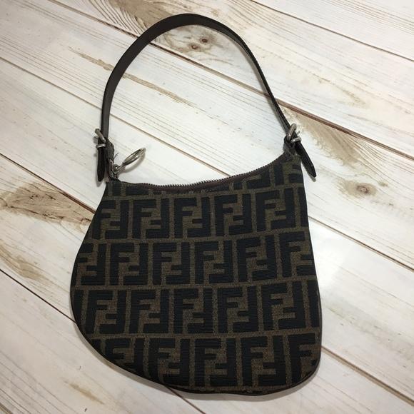 8f6fa41396a9 FENDI Handbags - Rare Fendi Zucca Brown Monogram Fabric Oyster Bag