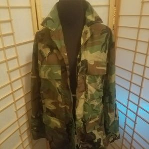 Trendy Size small army fatigue coat
