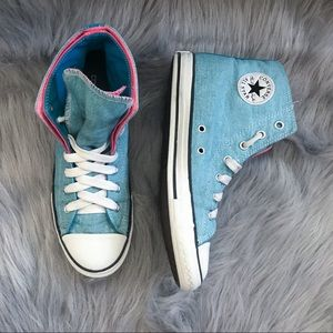 Converse High Top Double Tongue Fold Over