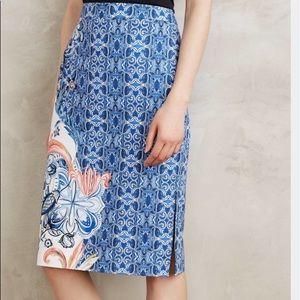 Anthropologie Moulinette Becancour Pencil Skirt