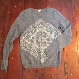 Classic Heather Grey JCrew Sweater