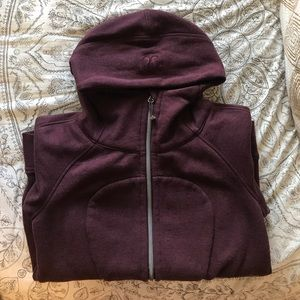 lululemon maroon scuba hoodie