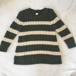 J. Crew Chainlink Cable Sweater in Stripe, S