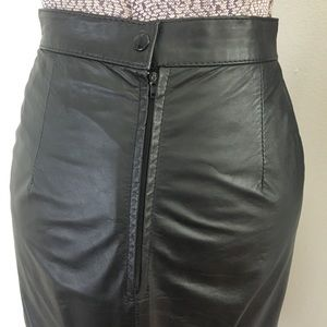 7822e2d65ca2 Vintage Skirts | 80s High Waisted Leather Pencil Skirt W Buttons ...