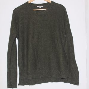 Madewell olive green sweater