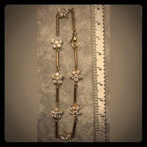 Jewelry - Sterling silver Cubic Zirconia Flower Bracelet