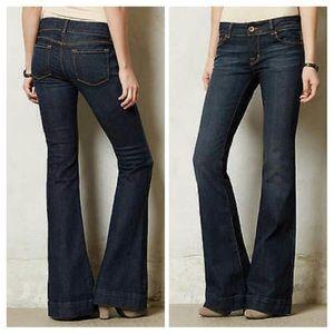 J Brand 722 Ink Bell Bottom Wide Leg Jeans