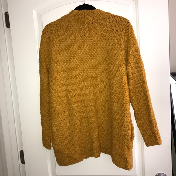 Forever 21 - Mustard yellow/gold chunky knit cardigan sweater from ...