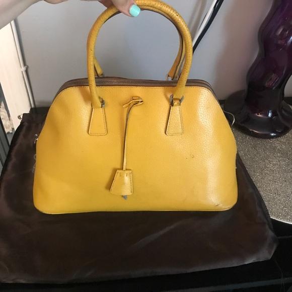 f093b28950a buy vintage prada yellow bag 3f8c5 2ec1a