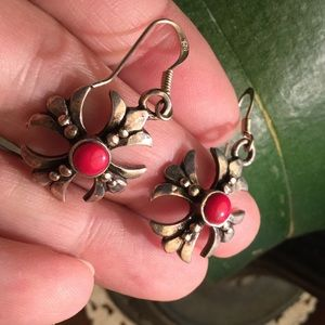 Jewelry - SALE Sterling Silver Coral Earrings