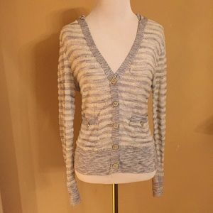 Anthropologie Moth Striped Hoodie Sweater