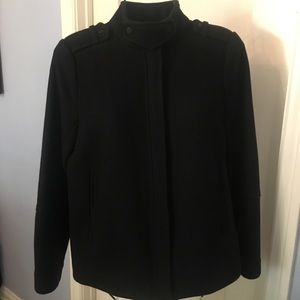 Vince Cropped Wool Riding Jacket