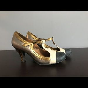 Pre-owned, Jeffrey Campbell t-strap heels, size 6