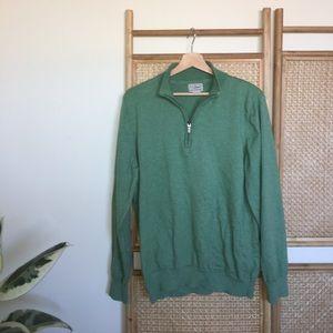 🌿 Mint Green Oversized Quarter Zip Sweater