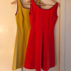 Zara A-line pocketed midi dresses.