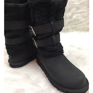 Used discontinued leather ugg boots