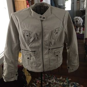 New York and Company Pleather Jacket XL
