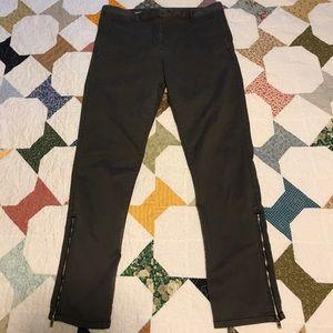 GAP gray skinny mini khakis dress pants chinos 6