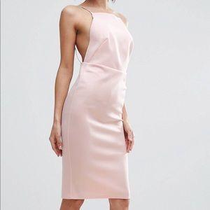 Light Pink Body-Con Midi Dress