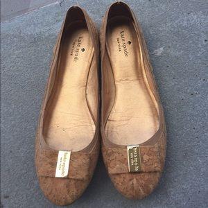 Kate Spade cork bow ballet flats 10