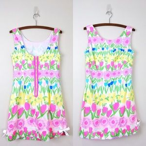 LILLY PULITZER Tulip Print Floral Shift Dress Bows
