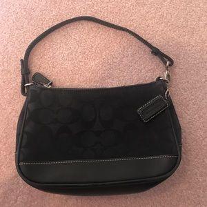 Small black Coach purse