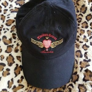 Twisted Heart Black Sequin Hat