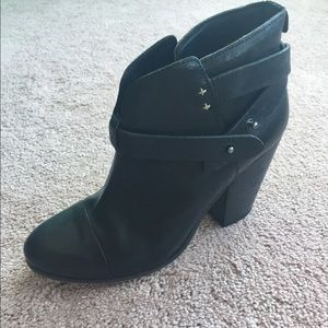 Rag and Bone Harrow Black leather booties