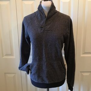 Banana Republic Blue Sweatshirt SM Stand Up Collar
