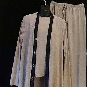Chico's 3-pt pants outfit (pants,top,jacket)-sz 4
