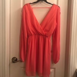 Coral flare dress