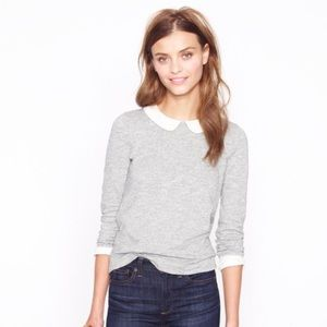 Jcrew Peter Pan collar sweater