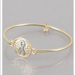 Gorgeous Gold Breast Cancer Awareness Bracelet