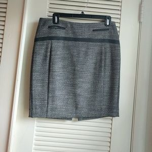 Gray Tweed Pencil Skirt