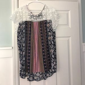Mix Patterned flowy top