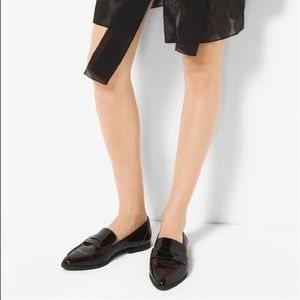 • NWT MICHAEL KORS• black patent loafers