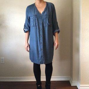 Plus size H&M silky denim dress