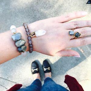 Crystal Quartz & Agate Bracelet