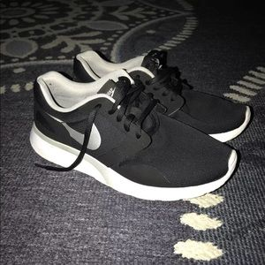 Black and white Nike's