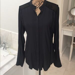 All Saints Blouse with sheer detail