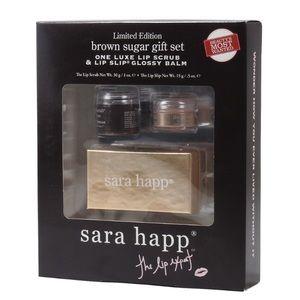 New Sara Happ Brown Sugar Lip Scrub & Lip Slip Set