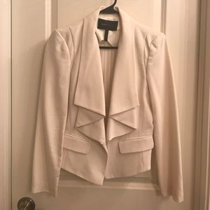 Cream Ruffled Blazer