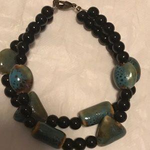 3 for $10 jewelry. Green stone bracelet