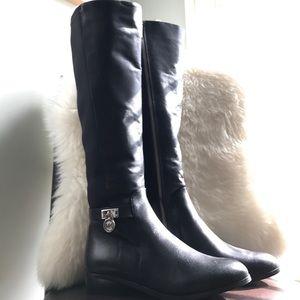 NWOT Michael Kors Black Knee High Leather Boots