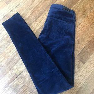 AG velour skinny jeans