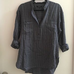 Madewell Plaid Oversized Blouse