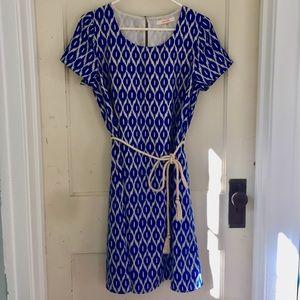STITCH FIX Pomelo Blue Patterned Dress