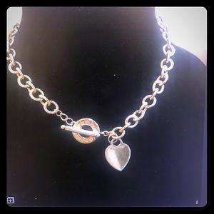 Tiffany and company heart toggle necklace