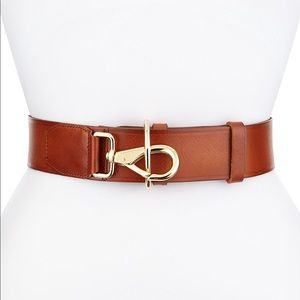 Cole Haan Polished Leather Lobster Clasp Belt